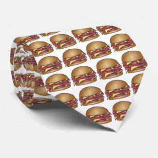 Schinken-und Käse-Sandwich-Feinschmecker-Krawatte Krawatte