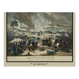 Schlacht von Gettysburg-Wasser-Farbe Postkarte