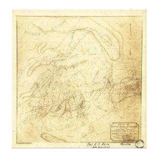 Schlachtfelder von Manassas Karte am 21. Juli 1861 Leinwanddruck