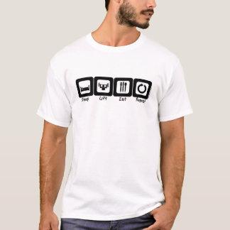 Schlaf-Aufzug essen Wiederholung T-Shirt
