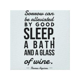 Schlaf-Bad-Glas des Wein-Thomas- von Leinwanddruck