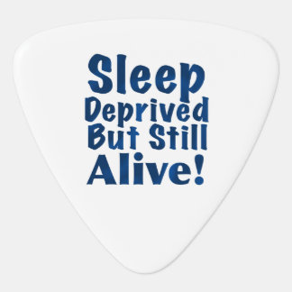 Schlaf beraubt aber noch lebendig im Blau Plektrum