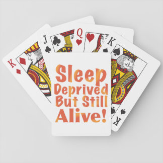 Schlaf beraubt aber noch lebendig in den spielkarten
