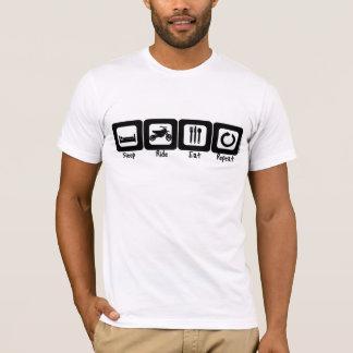 Schlaf-Fahrt essen Wiederholung T-Shirt