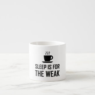 Schlaf für schwaches lustiges espressotasse