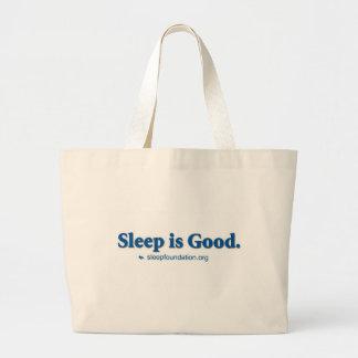 Schlaf ist gut leinentasche