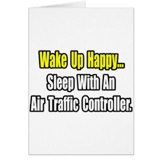 Schlaf mit einem Fluglotsen Grußkarte
