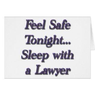 Schlaf mit einem Rechtsanwalt Karte