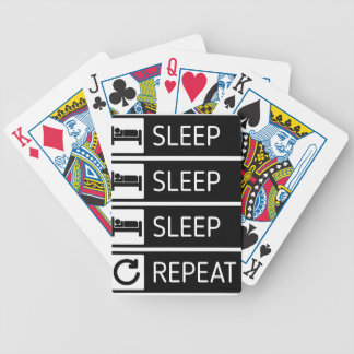 Schlaf-Schlaf-Schlaf-Wiederholung Bicycle Spielkarten