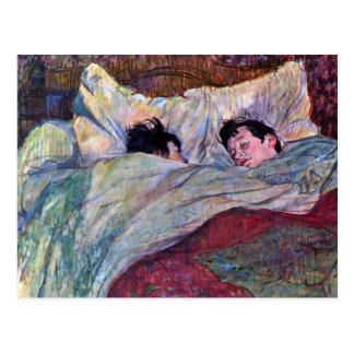 Schlafen durch Toulouse-Lautrec Postkarte