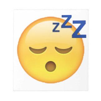 Schlafen - Emoji Notizblock