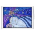 Schlafen in der Friedens-und Licht-Karte Karte