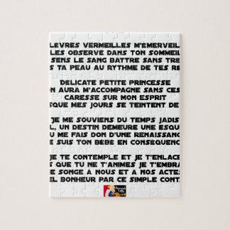 SCHLAFEN Sie - Gedicht - Francois Ville Puzzle
