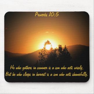 Schlafen Sie nicht im Ernte-Bibel-Zitat Mousepads