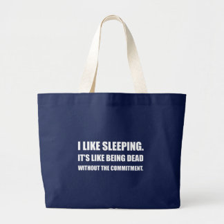 Schlafen wie tote Verpflichtung Jumbo Stoffbeutel