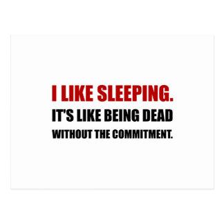 Schlafen wie tote Verpflichtung Postkarten