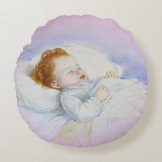 SchlafenBaby-rundes Kissen Rundes Kissen