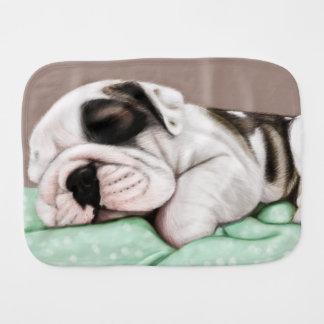 Schlafenbulldoggen-Welpe Baby Spucktuch