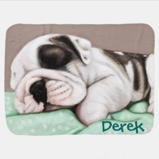 Schlafenbulldoggen-Welpe Babydecke