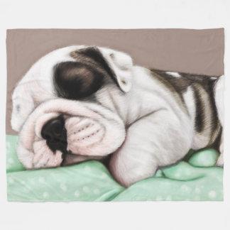 Schlafenbulldoggen-Welpe Fleecedecke