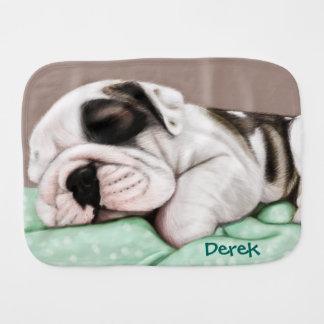 Schlafenbulldoggen-Welpe Spucktuch