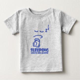 Schlafend, verlassen Sie mich allein (blau) Baby T-shirt