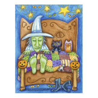 Schlafende Hexe Postkarte