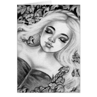 Schlafende Prinzessin Fairytale Fantasy Card Grußkarte