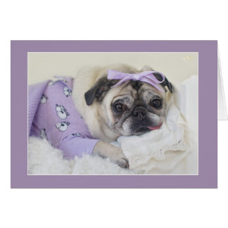 Schlafende Prinzessin Pug Card durch Möpse und Karte