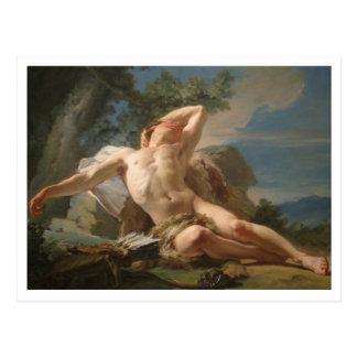 Schlafender Endymion durch Nicolas Brenet Postkarte