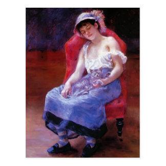 Schlafendes Mädchen Pierres Renoir- (Mädchen mit Postkarte