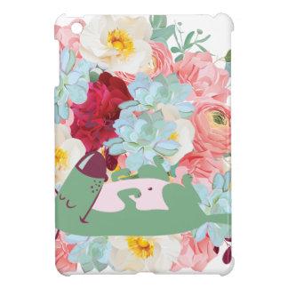 Schlafenhund mit Blumen iPad Mini Hülle
