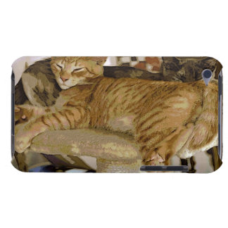 Schlafeningwertabby-Katzen-Kätzchen-Telefon-Kasten Barely There iPod Cover