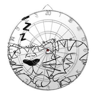 Schlafenkatze: Entspannen Sie sich und haben Sie Dartscheibe