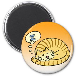 Schlafenkatze Kühlschrankmagnete