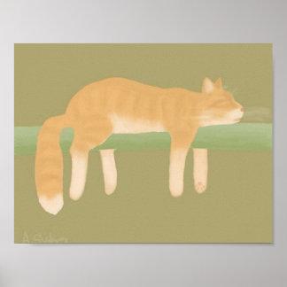 Schlafenkatzen-Plakat-Papier (Matt) Poster