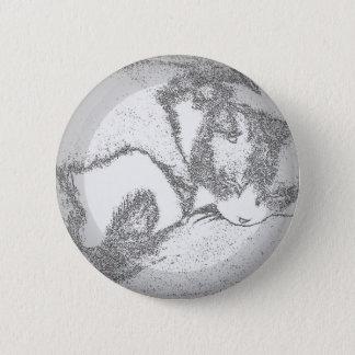 Schlafenkitty-Kontur Runder Button 5,1 Cm