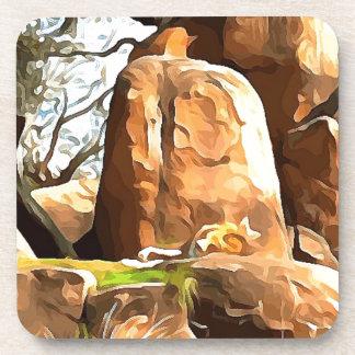 Schlafenlöwe von der Safari Getränkeuntersetzer