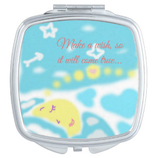 Schlafenmond-kompakter Spiegel Taschenspiegel