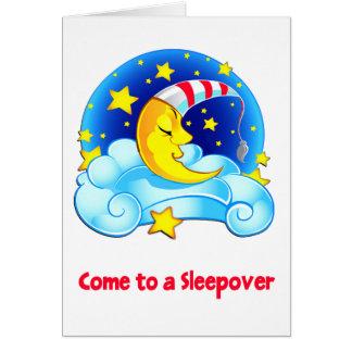 Schlafenmond mit Nachtkappen-sternenklarem Karte