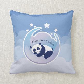 Schlafenpanda-Blaukissen Kissen