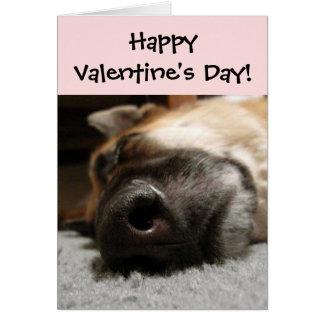 SchlafenSchäferhund-Valentinstag-Karte Grußkarte