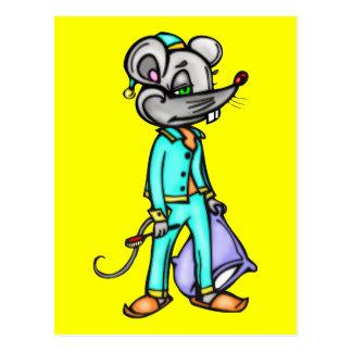 Schlafenszeit-Maus Postkarte