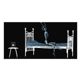 Schlafenszeit-Röntgenstrahl-Skeleton schwarzes Bla Bilder Karten
