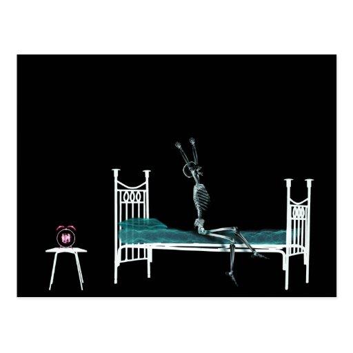 Schlafenszeit-Röntgenstrahl-Skeleton Vorlage Postkarten