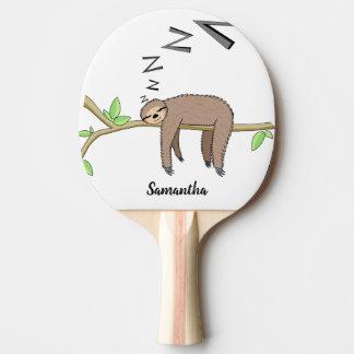 SchlafenTrägheit Tischtennis Schläger