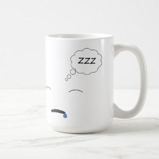 Schläfrig Kaffeetasse