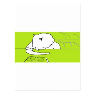Schläfrig Postkarte