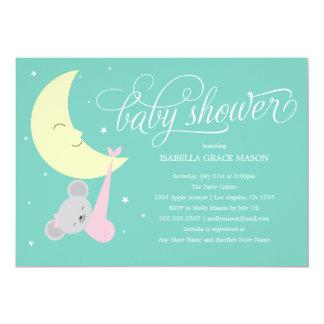 Schläfrige Babyparty der Maus| laden ein 12,7 X 17,8 Cm Einladungskarte
