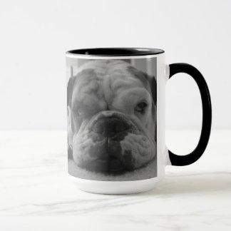 Schläfrige Bulldoggen-Tasse Tasse
